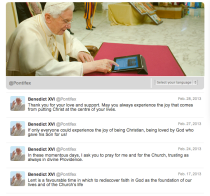 The last few tweets from Pope Benedict